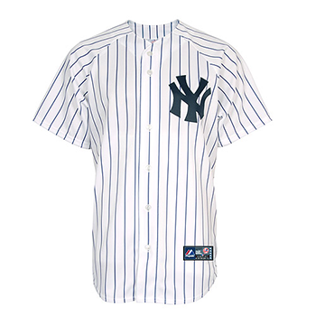 size 40 59f53 355b5 Majestic - MLB New York Yankees Home Replica Jersey White/Navy