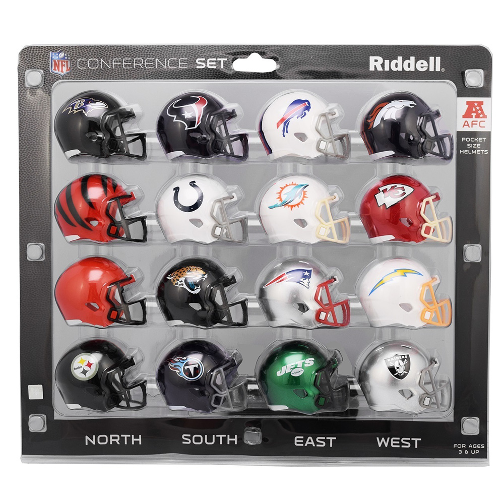 Riddell 1 AFC Micro Helmet 16 Pieces Conference Set