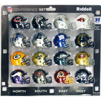 Riddell 1 NFC Micro Helmet 16 Pieces Conference Set