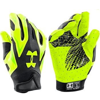 Under Armour F4 Receiver glove Volt/Bk
