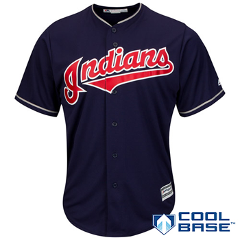 Majestic MLB Cleveland Indians Official Cool Base Alternate 1 Jersey