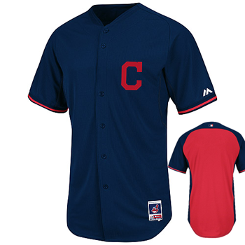 Majestic MLB Cleveland Indians Authentic BP Jersey