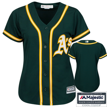 Majestic Oakland Athletics Womens Cool Base® Alternate Jersey