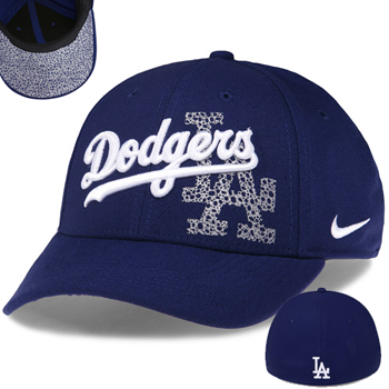 Nike MLB Dodgers Dri-FIT Graphic Swoosh Flex Stretch Fit Cap