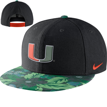 super popular 203b1 6ebd2 Renforcez votre esprit d équipe de supporter de Miami grace à la casquette  Nike ® des Miami Hurricanes