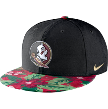 Nike NCAA Seminoles Black True Snapback Floral Hat
