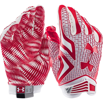 Under Armour Swarm receiver Football glove red