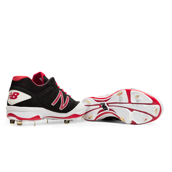 New Balance Low-Cut 4040v3 Metal Cleat  (Spike crampon métal) Rouge/blanc