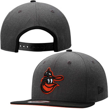 New Era MLB Baltimore Orioles Heather Graphite Field Snapback 9Fifty