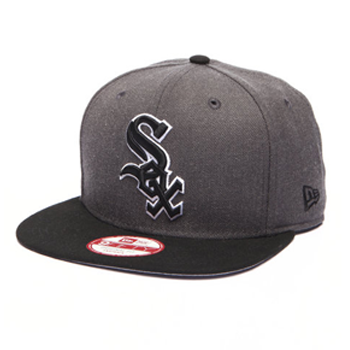 New Era MLB Chicago White Sox Heather Graphite Field Snapback 9Fifty