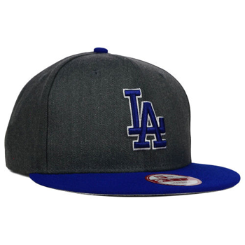 New Era MLB Los Angeles Dodgers Heather Graphite Field Snapback 9Fifty