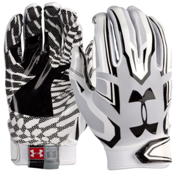 Under Armour F5 Mens Football Glove White/Black 1271183-100
