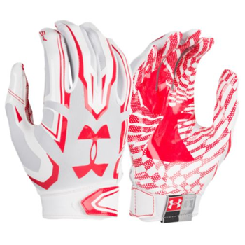 Under Armour F5 Mens Football Glove White/Red 1271183-101