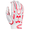 Under Armour F5 Mens Football Glove Blanc/Rouge 1271183-101