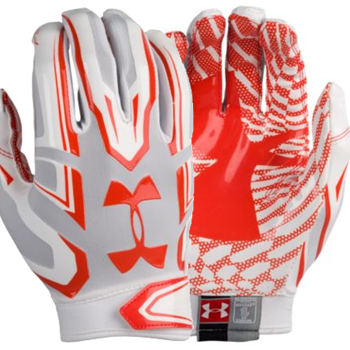 Under Armour F5 Mens Football Glove White/Orange
