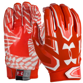 Under Armour F5 Mens Football Glove Orange