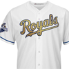 Majestic Kansas City Royals 2015 World Series Cool Base® Gold Detail + Commemorative  - Champions Patch Limited Edition