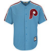 Majestic Philadelphia Phillies Cooperstown Cool Base® Columbia Blue Jersey