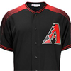 Majestic Arizona Diamondbacks Majestic Black/Brick Official Cool Base Jersey