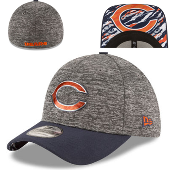 New Era Chicago Bears Heathered Gray/Orange 2016 NFL Draft 39THIRTY Flex Cap