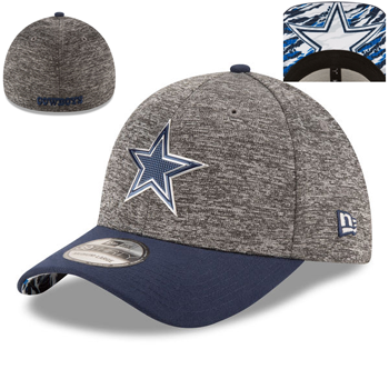 New Era Dallas Cowboys Heathered Gray/Navy 2016 NFL Draft 39THIRTY Flex Cap