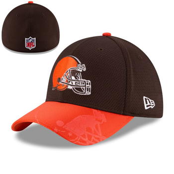 New Era Cleveland Browns 2016 Official NFL Sideline 39THIRTY