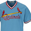 Majestic St. Louis Cardinals Cool Base Columbia Blue Cooperstown Jersey
