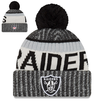 New Era NFL Oakland Raiders 2017 Sideline Knit