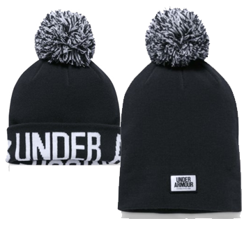 Under Armour Bonnet Femme Graphic Pom Beanie Noir/Blanc