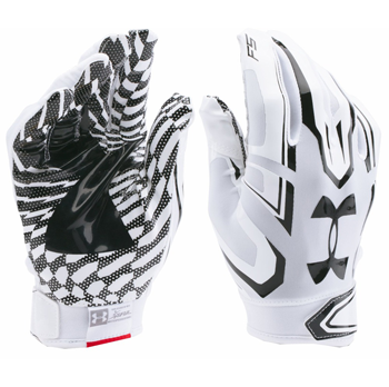 Under Armour F5 Boys Football Glove White/Black 1271185-100