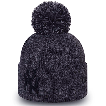 New Era MLB New York Yankees Bonnet à revers avec pompon chiné