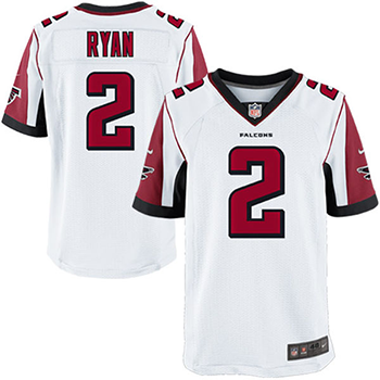 Nike Atlanta Falcons Matt Ryan  White game Jersey