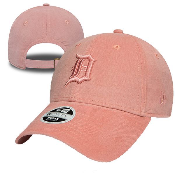 New Era Detroit Tigers Micro Cord Womens Pink 9Forty