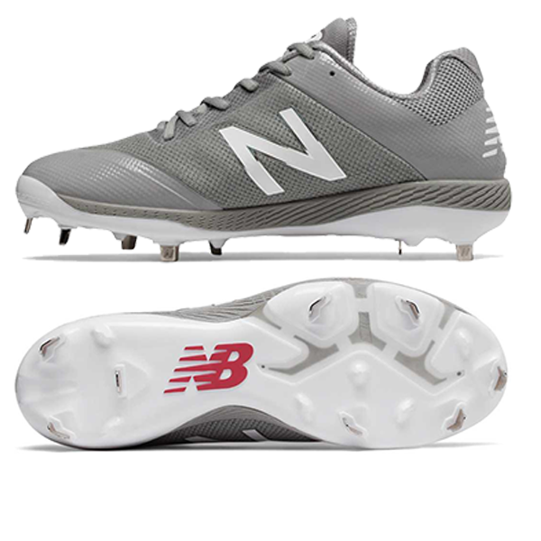 New Balance Low-Cut 4040v4 Metal Cleat Grey