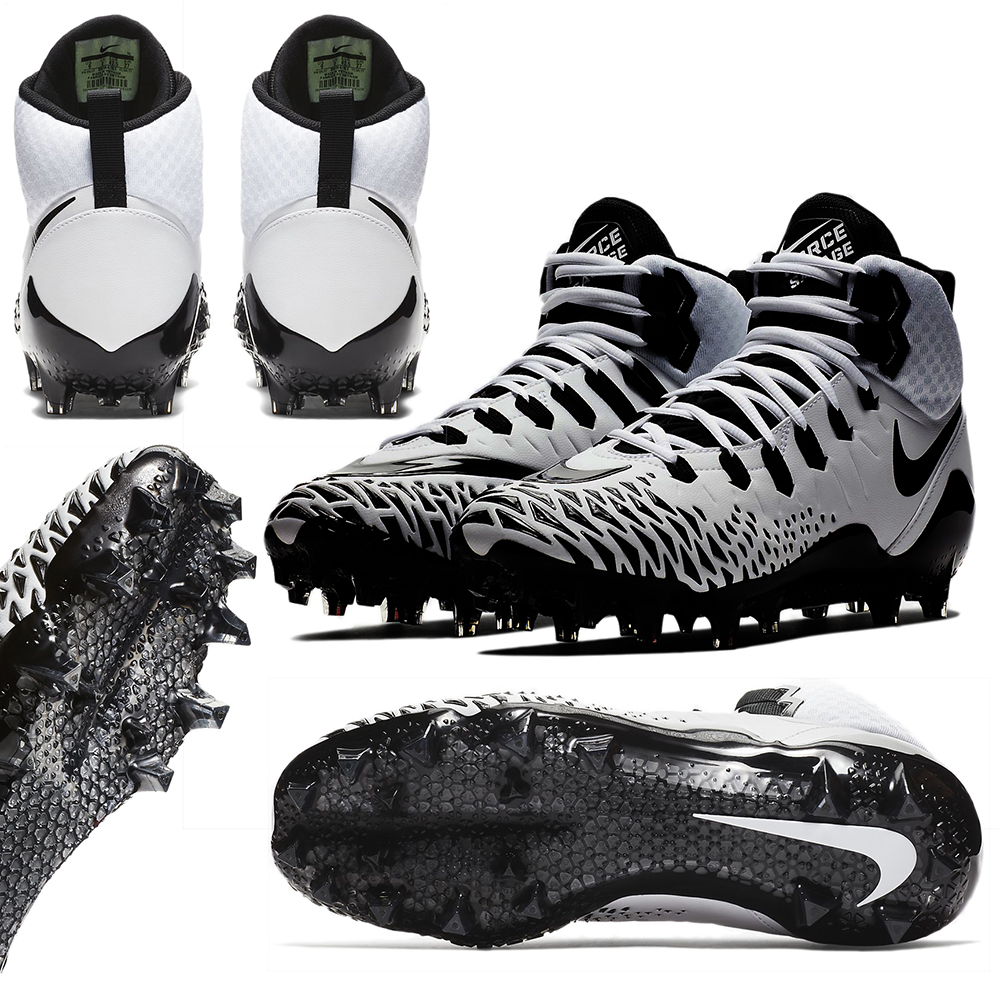 competitive price ef4cf a1b44 (81.67 € hors CE), Nike Force Savage PRO Chaussure football Américain  Blanc Noir