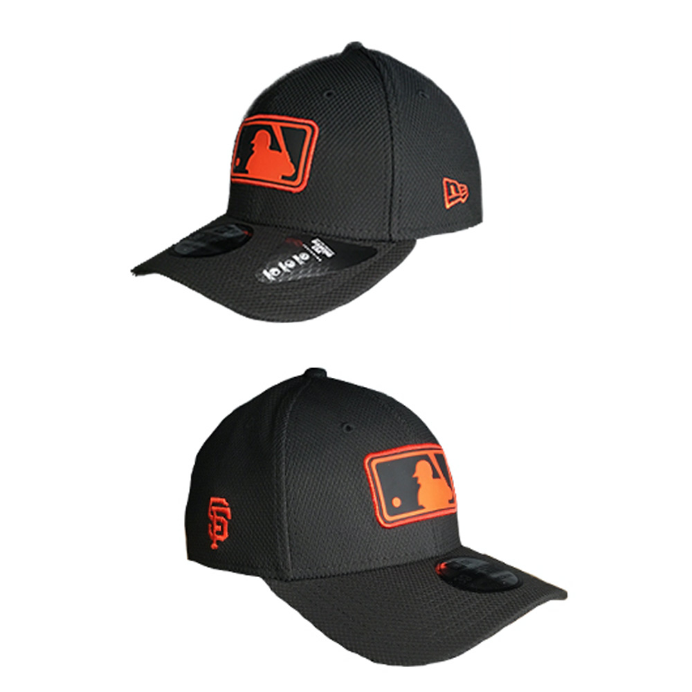 8d2e8cda83912 This MLB San Francisco Giants League Logo black 39Thirty cap comes from an  exclusive collection. Wear the emblem of the MLB in Orange and Black with  the PVC ...
