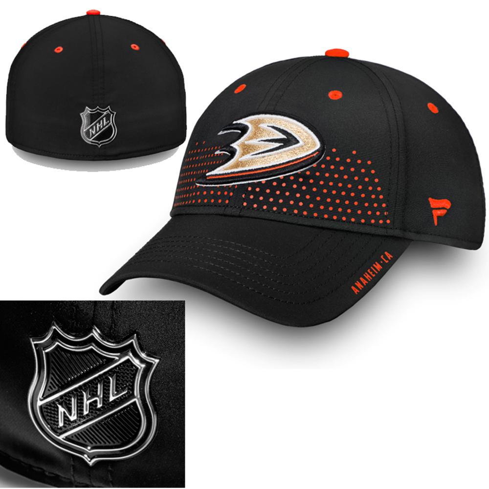 NHL Anaheim Ducks Stretch Fit Draft caps 288a523df