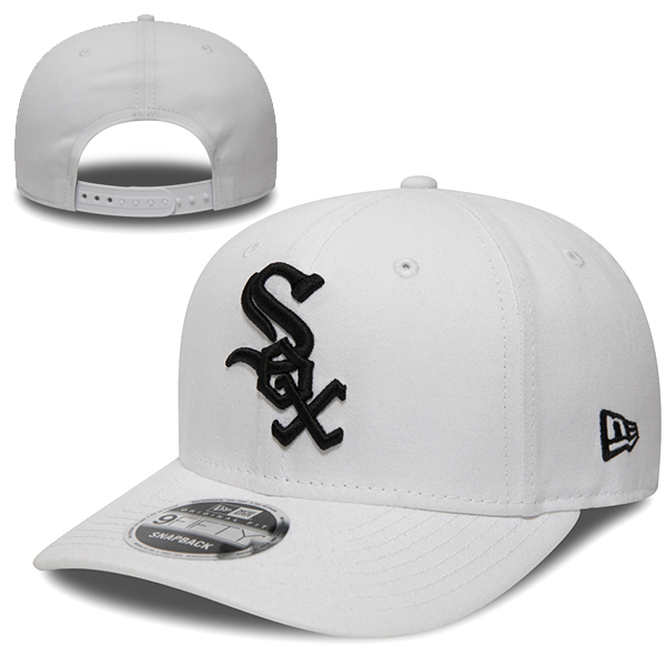 New Era MLB Chicago White Sox Pre Curved 9Fifty Snapback white/black