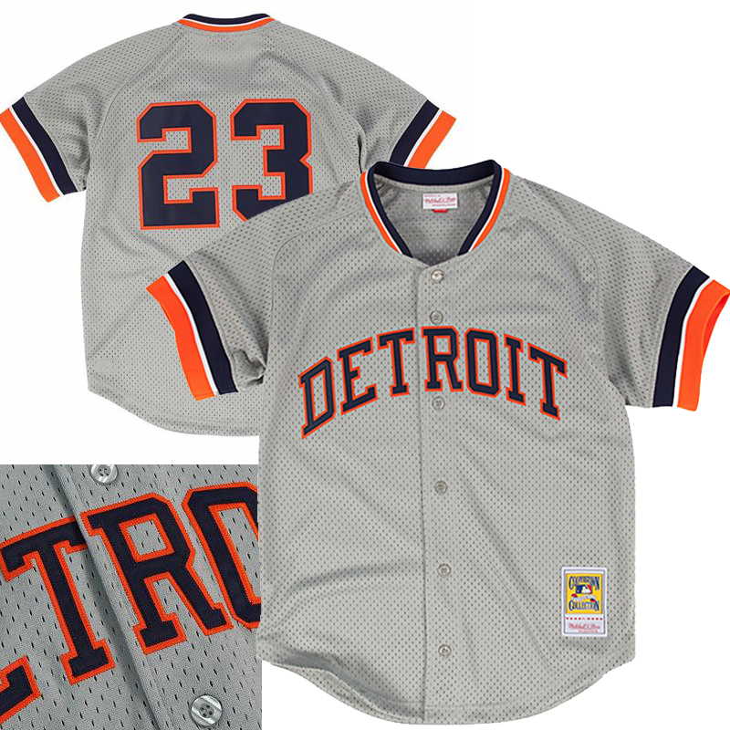 Mitchell & Ness MLB Detroit Tigers Gibson 1987 Authentic Mesh Cooperstown BP Jersey