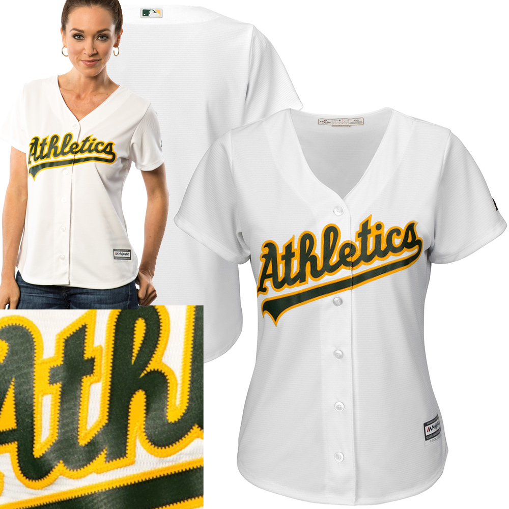 Majestic Women's Oakland Athletics White Home Cool Base Jersey