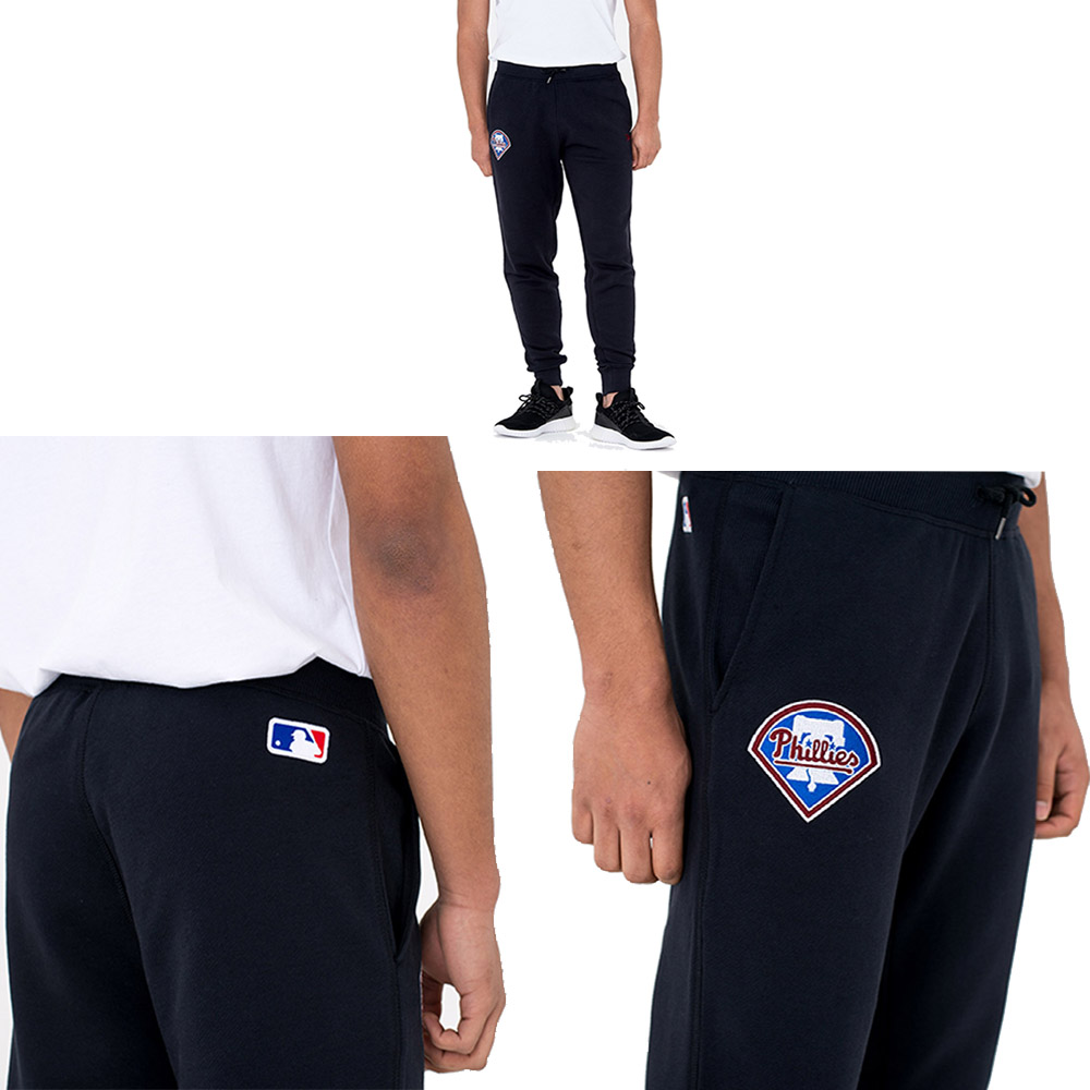 New Era MLB Philadelphia Phillies University Club Track jogger - pantalon De Jogging Des Philadelphia Phillies Bleu marine