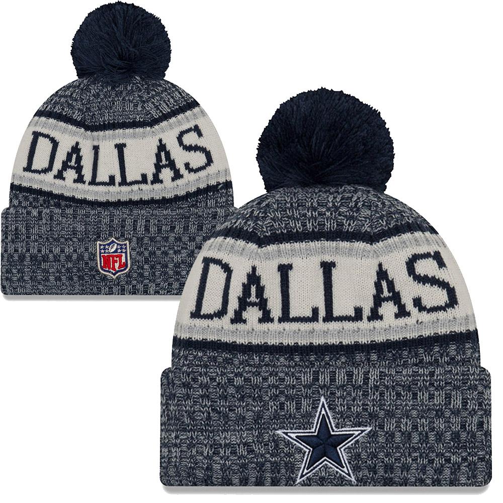 a81592a44f7 New Era - NFL Dallas Cowboys Sideline Bobble Cuff Knit 2018