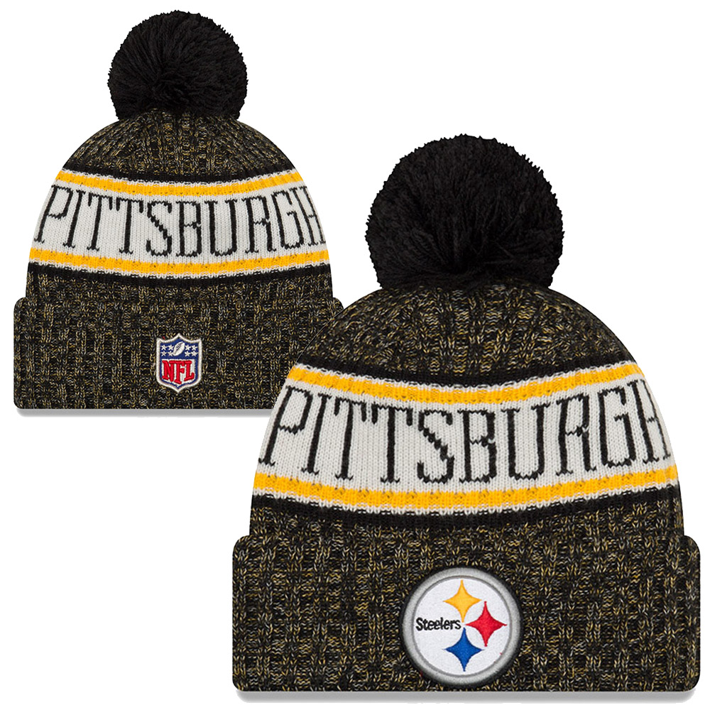 465ac822373 NFL Pittsburgh Steelers Sideline Bobble cuff Knit 2018