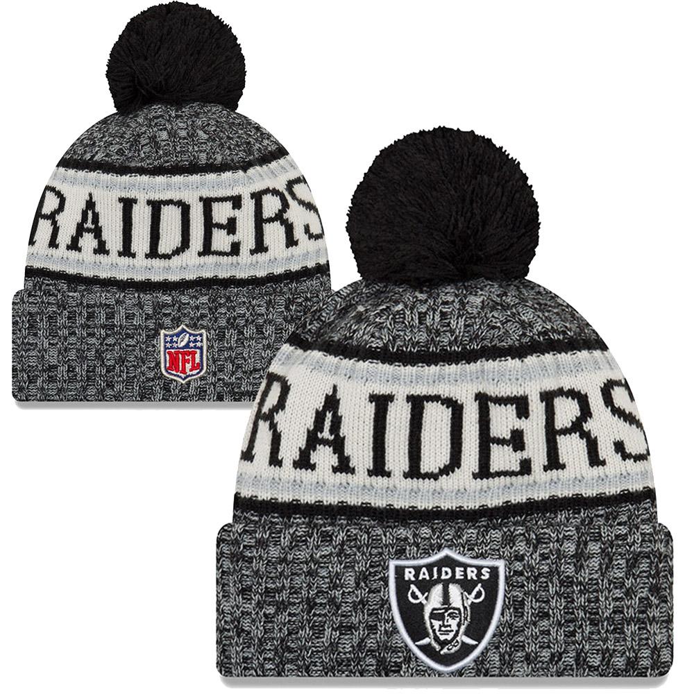 17525f7e2e5 New Era - NFL Oakland Raiders Sideline Bobble Cuff Knit 2018