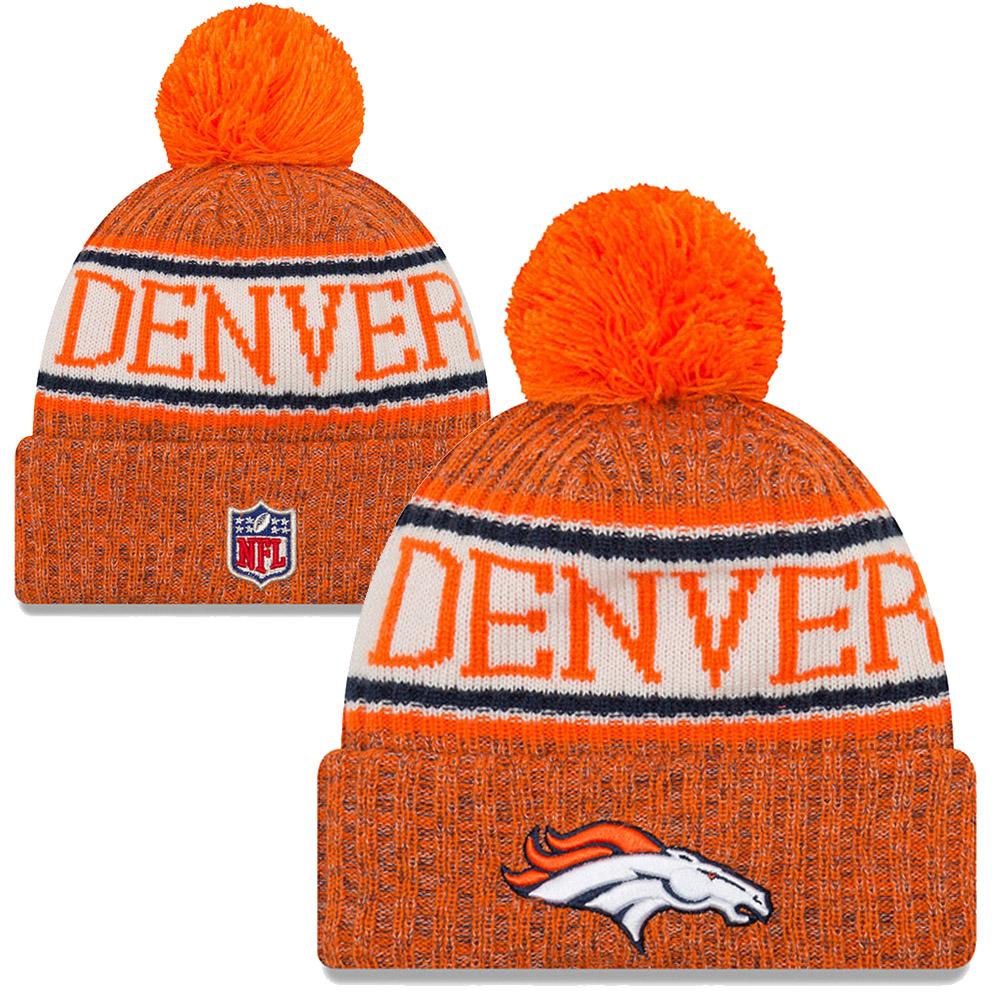 NFL Denver Broncos Sideline Bobble Cuff knit 2018 f57cf4298