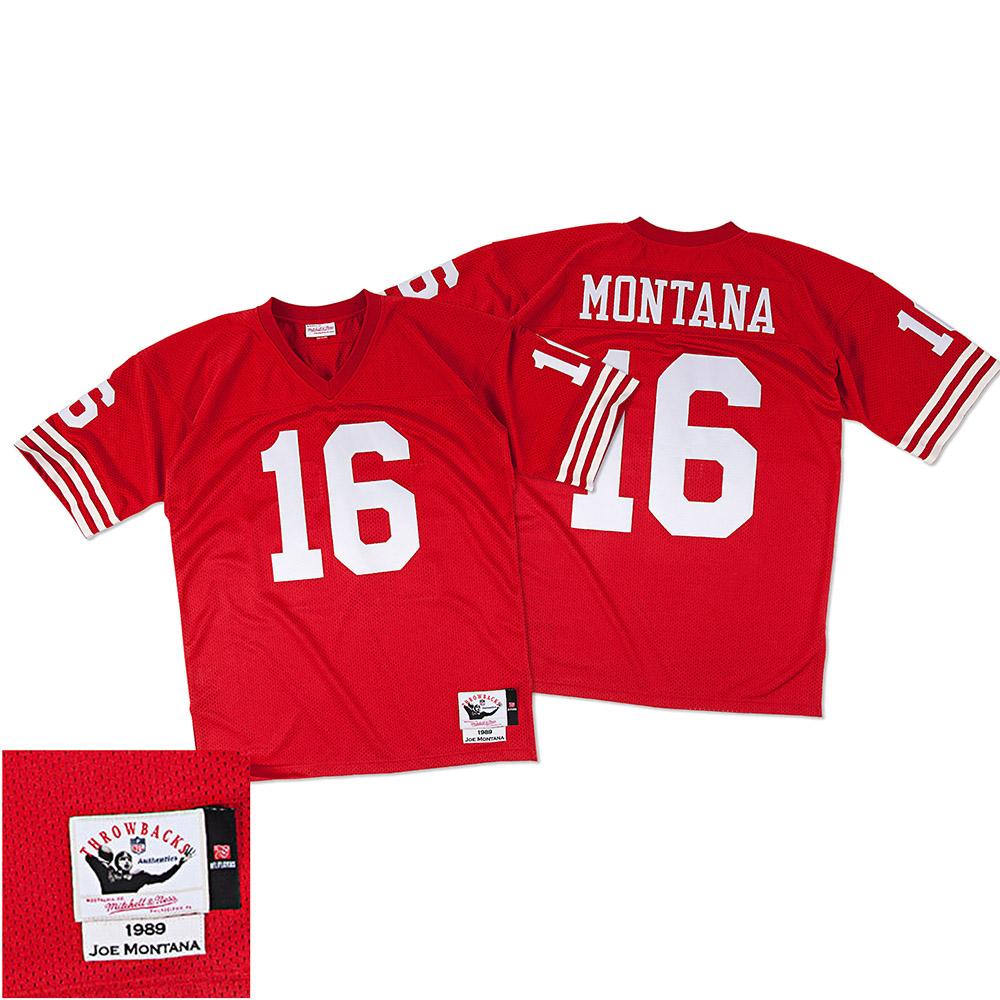 online retailer 6e19f 56961 Mitchell & Ness - NFL San Francisco 49ers Joe Montana 1989 ...