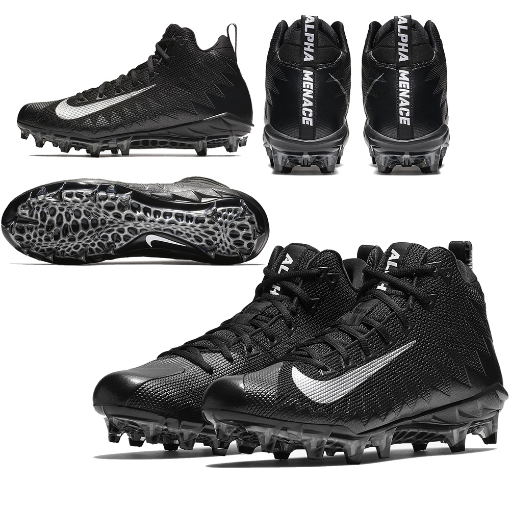 Nike Alpha Menace Pro Mid 871451 003 BlackBlackMetallic