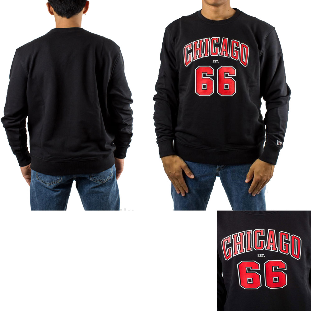 New Era NBA Chicago Bulls Established Crew - Pull des Chicago Bulls