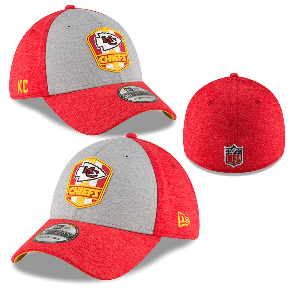 online store 9b321 9b048 Pick up an essential addition to your Kansas City Chiefs accessory  collection with this NFL 2018 Sideline 39THIRTY Road cap from New Era.