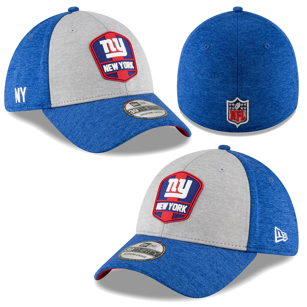 8fec828768f937 American Football NFL New York Giants Era 2018 Official Sideline Road 39THIRTY  Stretch Fit Cap Hat